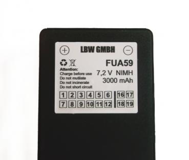 Battery for SCANRECO 590, 592, 593, 960 7,2 V / 3000 mAh NiMh