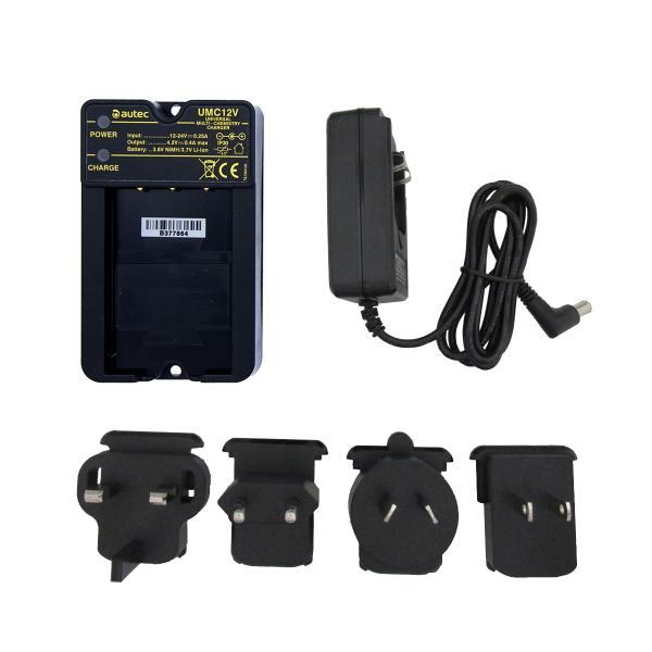Battery charger Autec UMC12V with 100-240 V / AC for MHM03 and LPM01