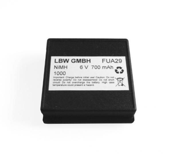 Battery for HBC FUB9NM, 6 V, 700 mAh NiMh