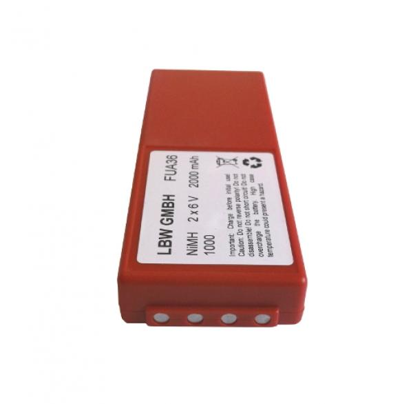 Battery for HBC FUB10AA, FUB10XL 2x6V 2000 mAh NiMh